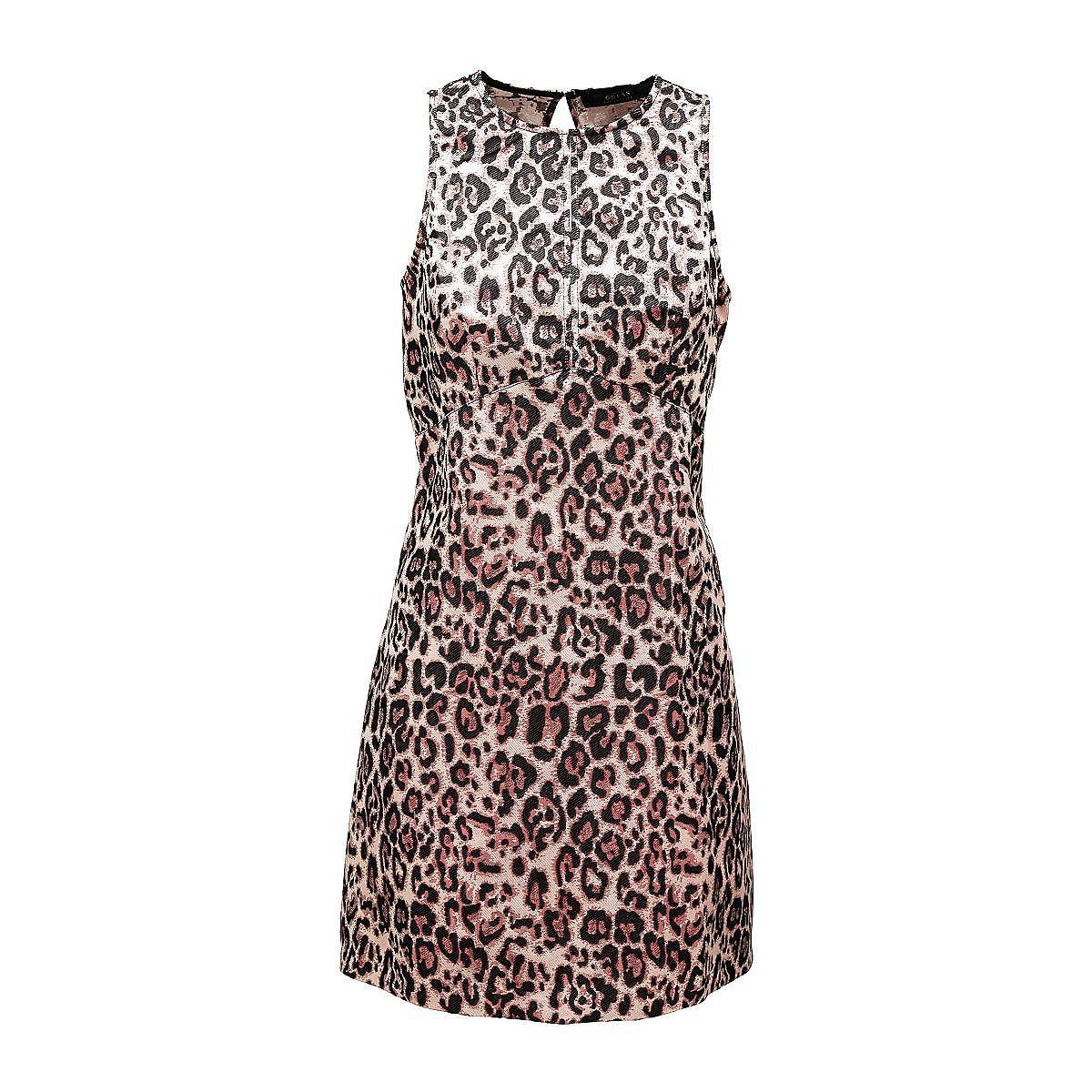 Guess mouwloze jurk met animal-print roze