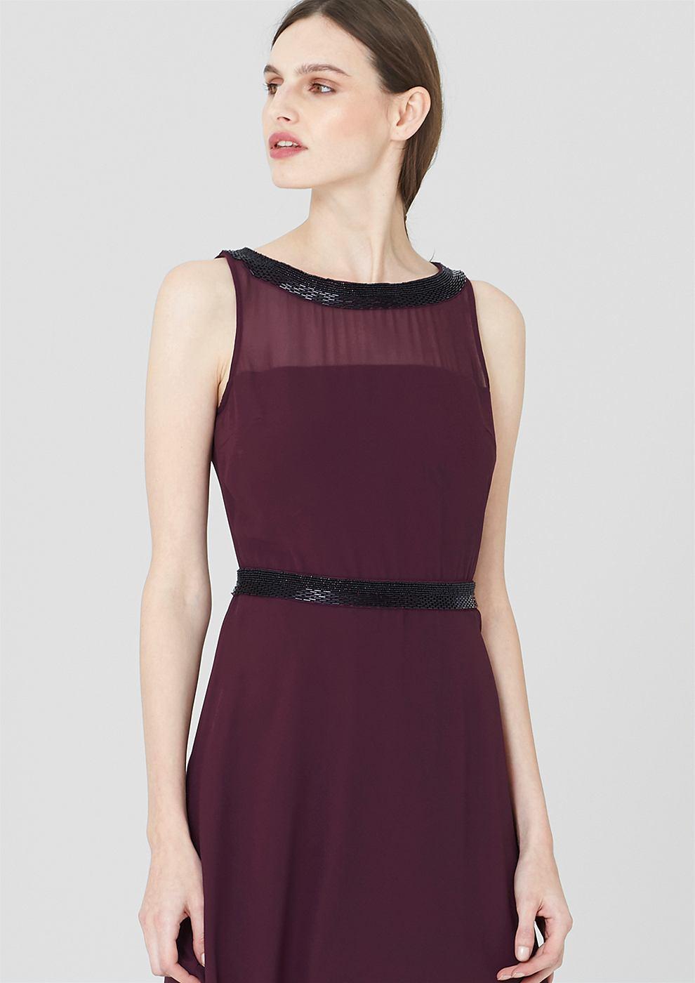 s.Oliver Premium chiffon jurk met sierstenen rood