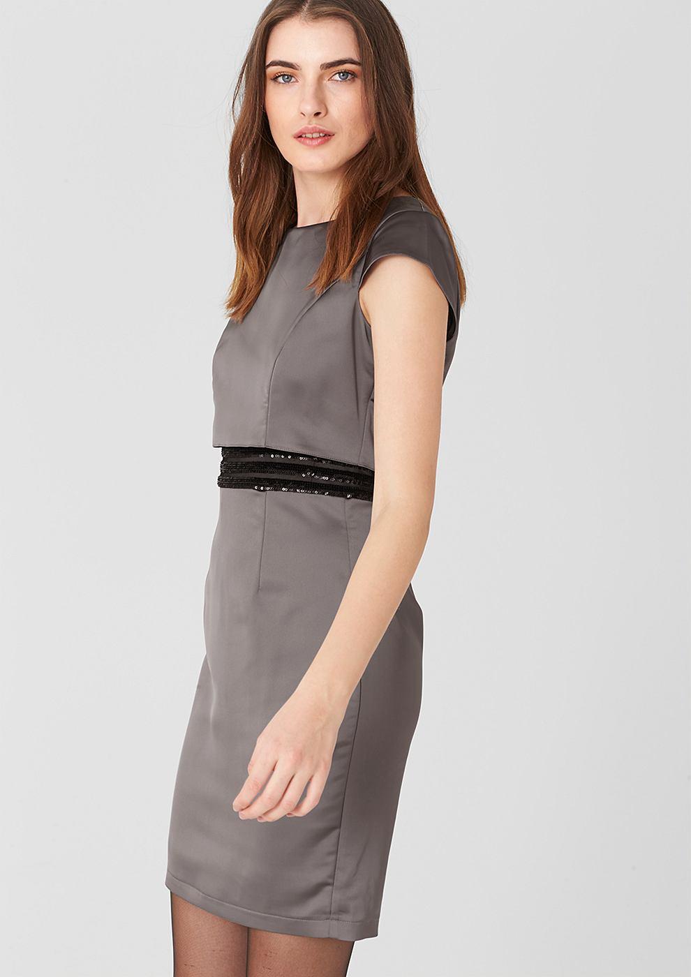 s.Oliver Premium Aansluitende jurk met pailletjes grijs