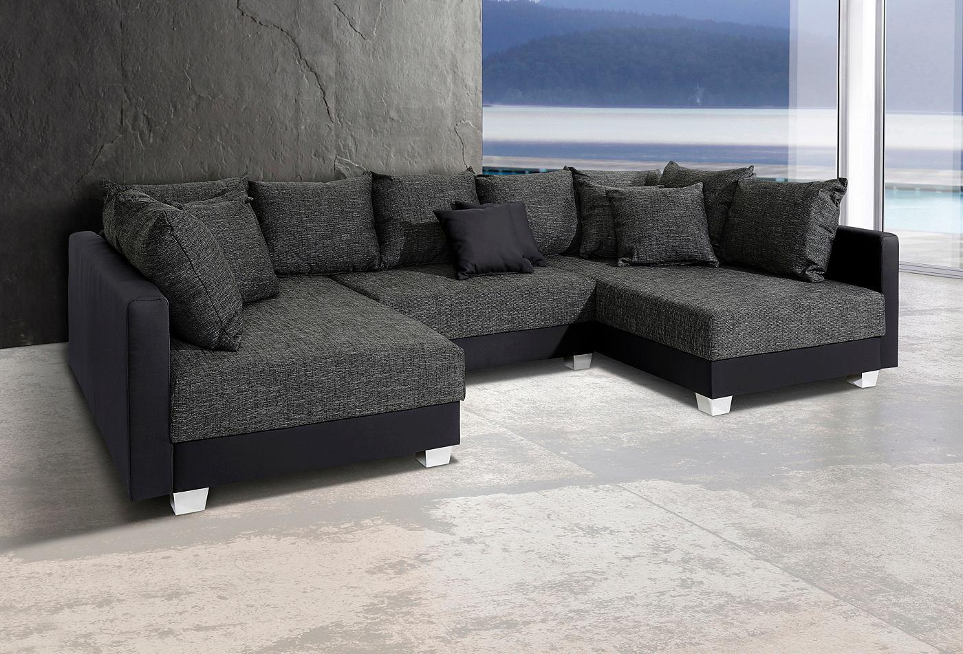 Zwart witte hoekbank: arbrini loungeset lineo hoekbank wit ...