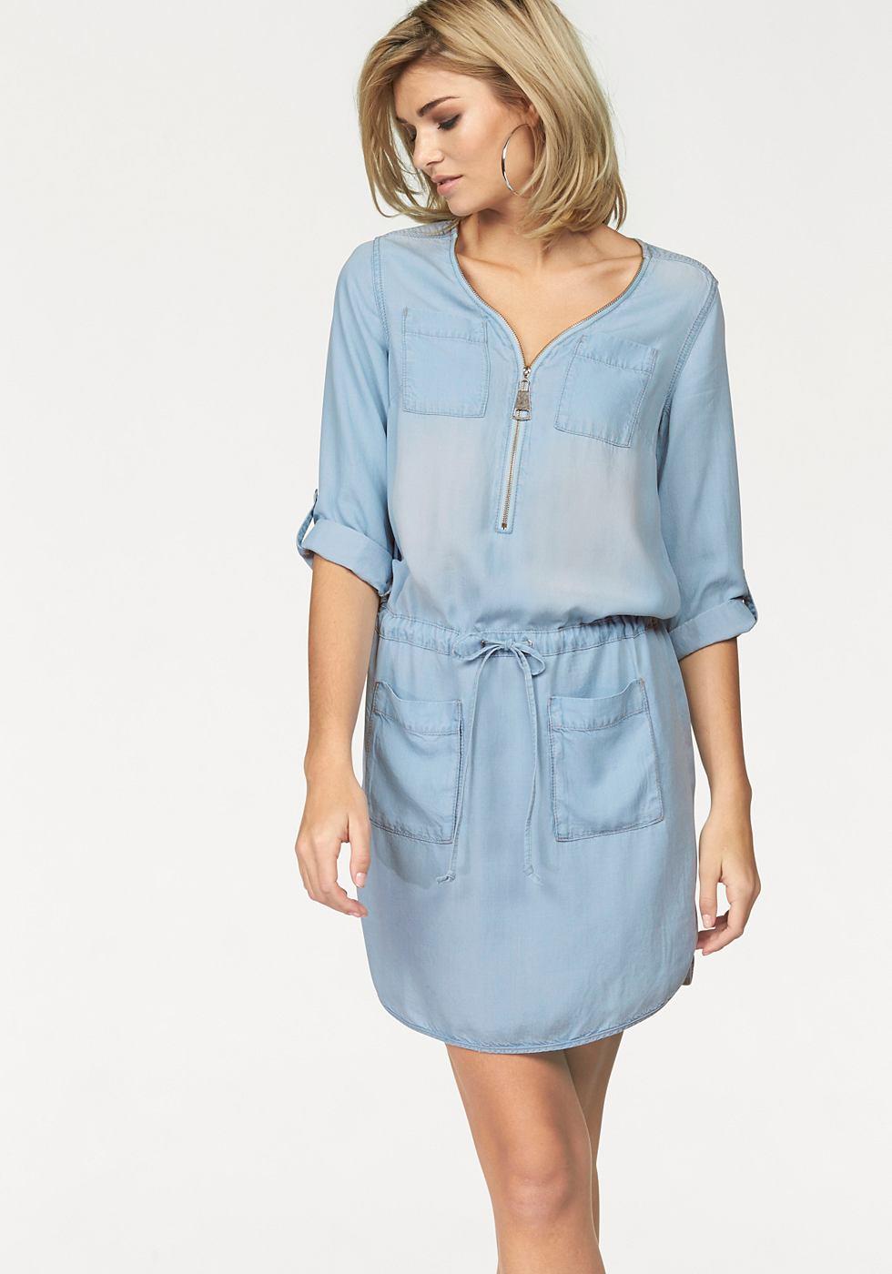 Laura Scott Jeans-jurk blauw