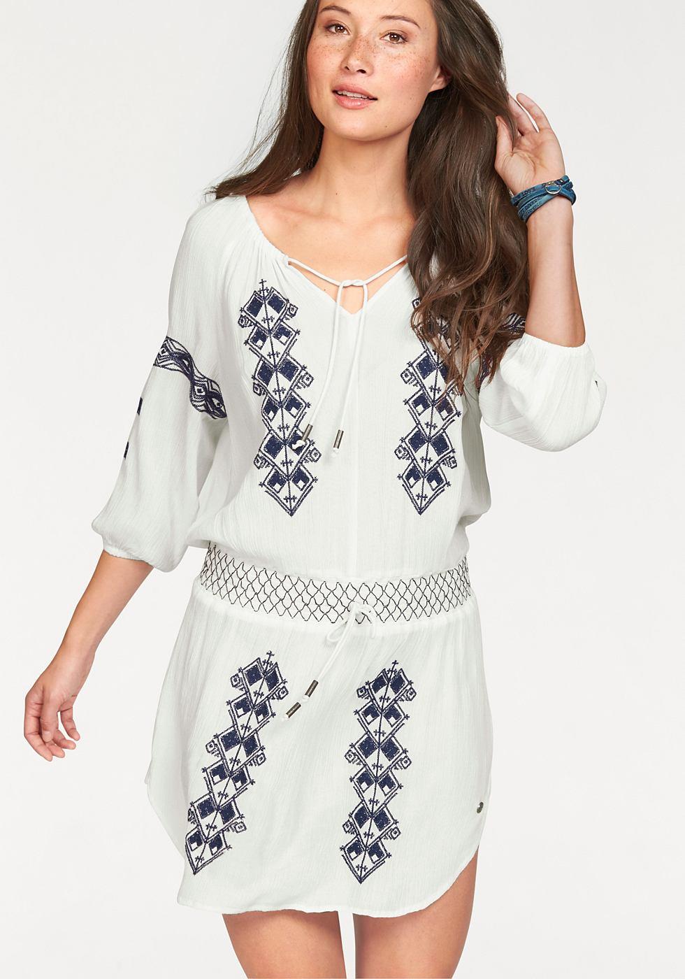 Kangaroos Lange blouse met borduursel wit