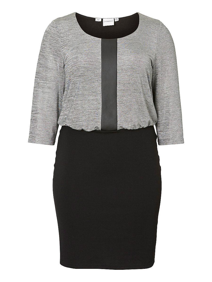NU 15% KORTING: Junarose Mix jurk zwart