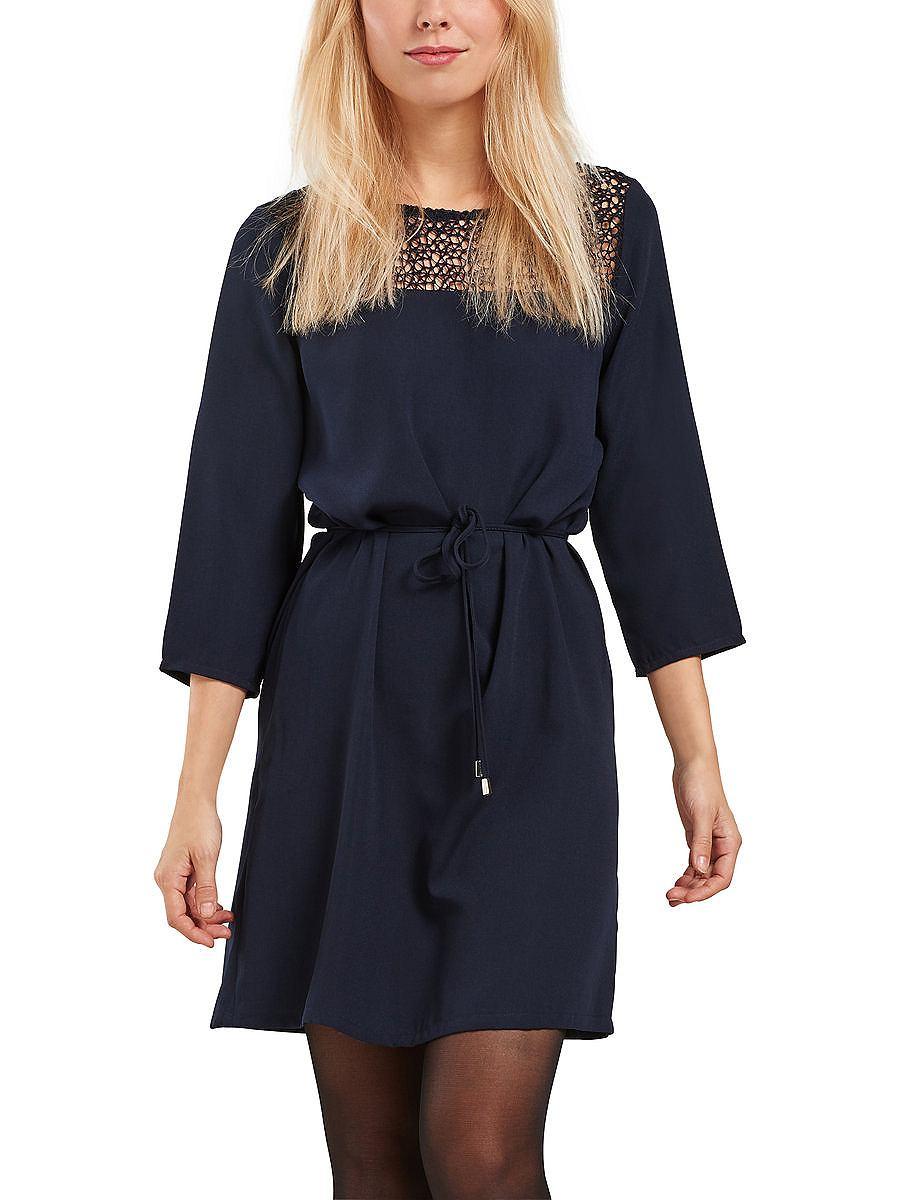 ONLY 3/4 mouwen jurk blauw
