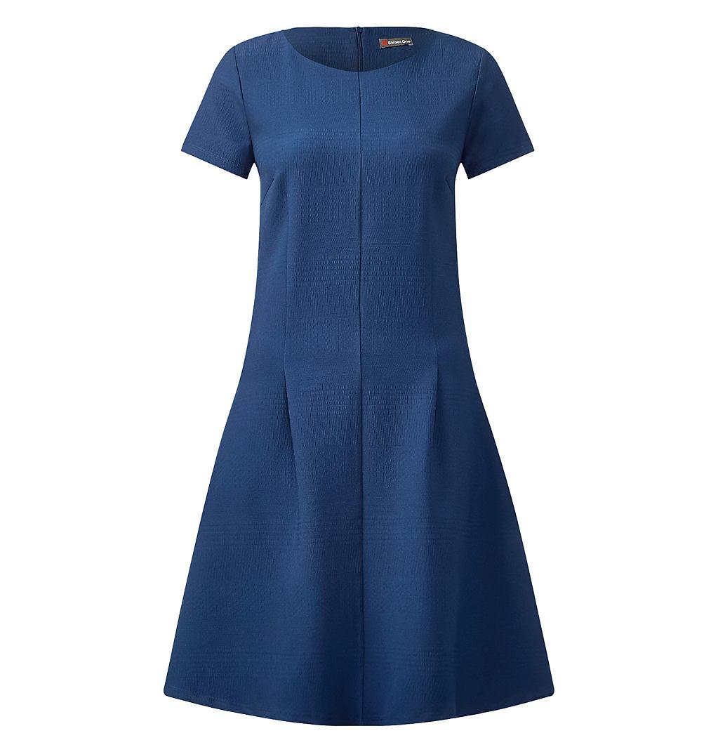 Street One jersey structuurjurk Alina blauw