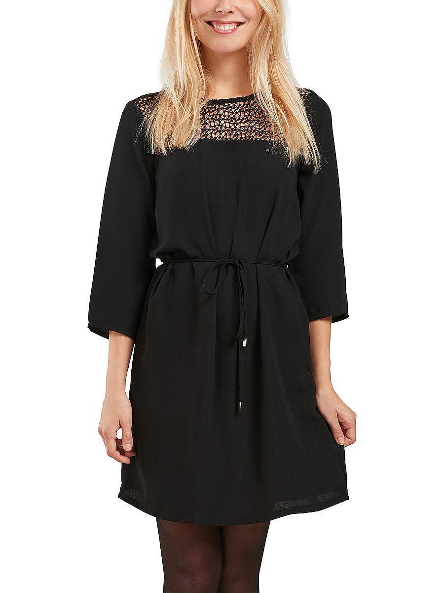 ONLY 3/4 mouwen jurk zwart