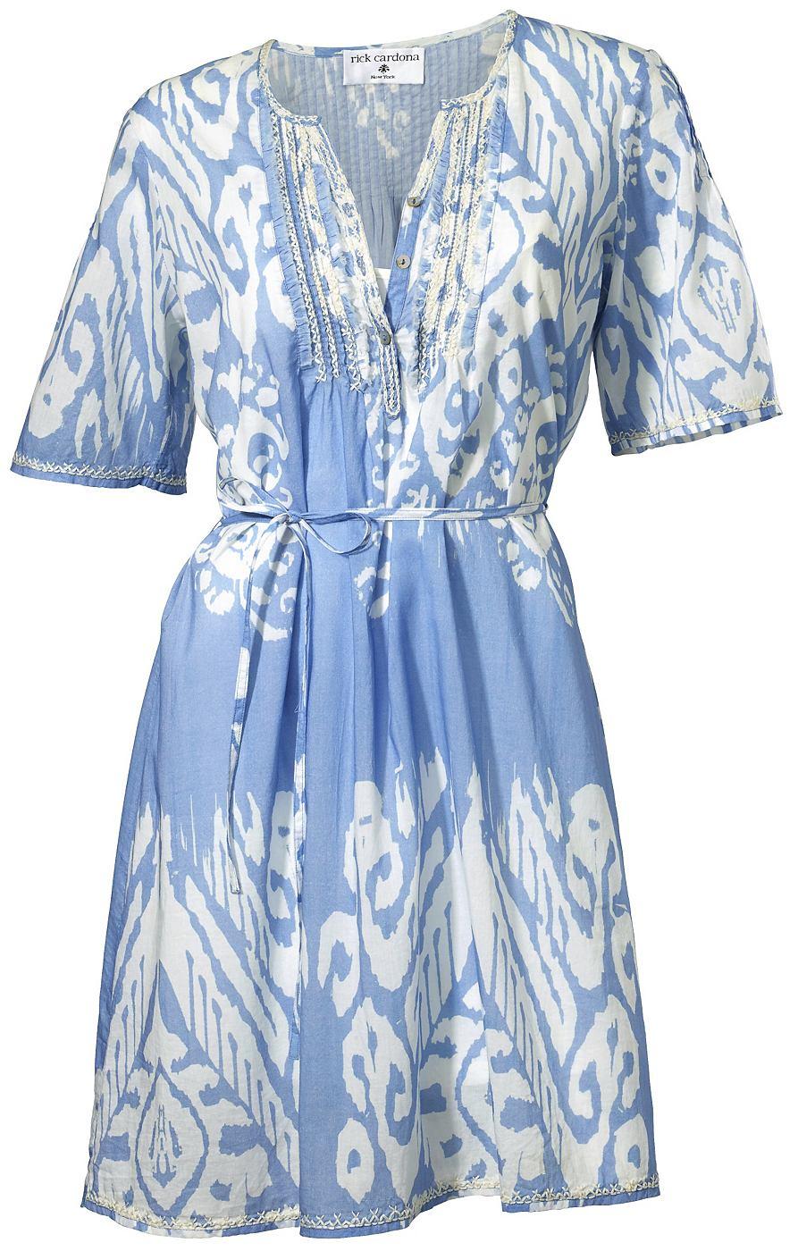 jurk met overhemdkraag blauw