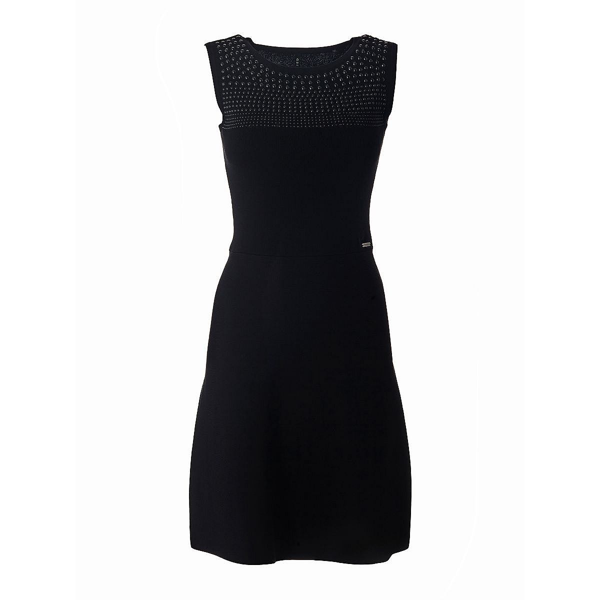 Guess jurk in viscosemix met stras zwart