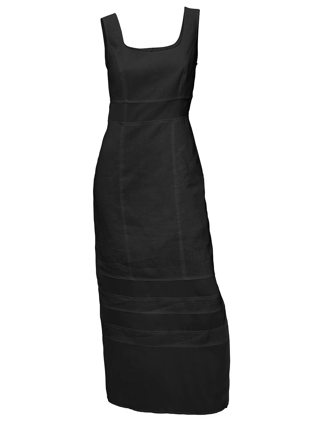 Linnen jurk zwart