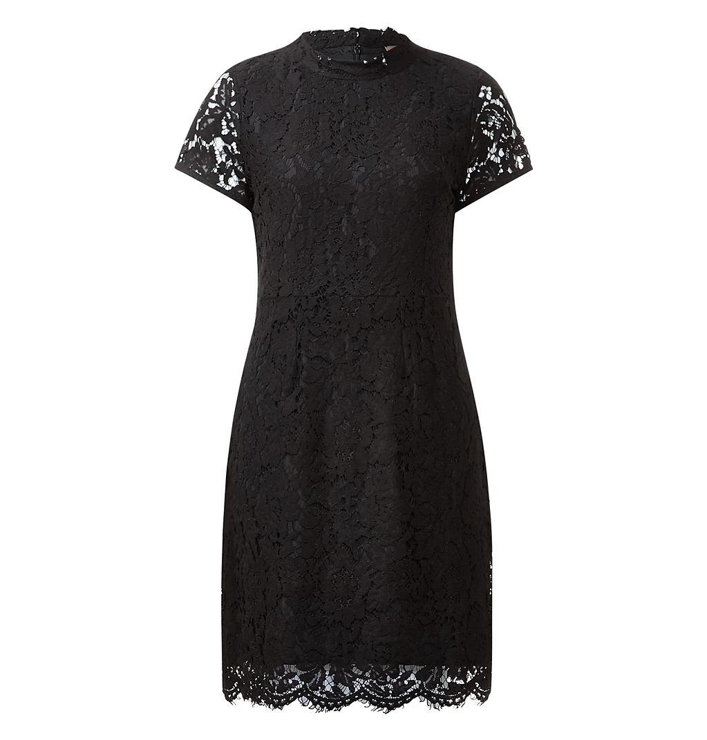 Street One jurk van bloemenkant Alessa zwart