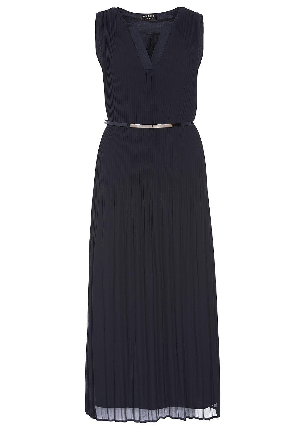 Apart Plissee jurk zwart