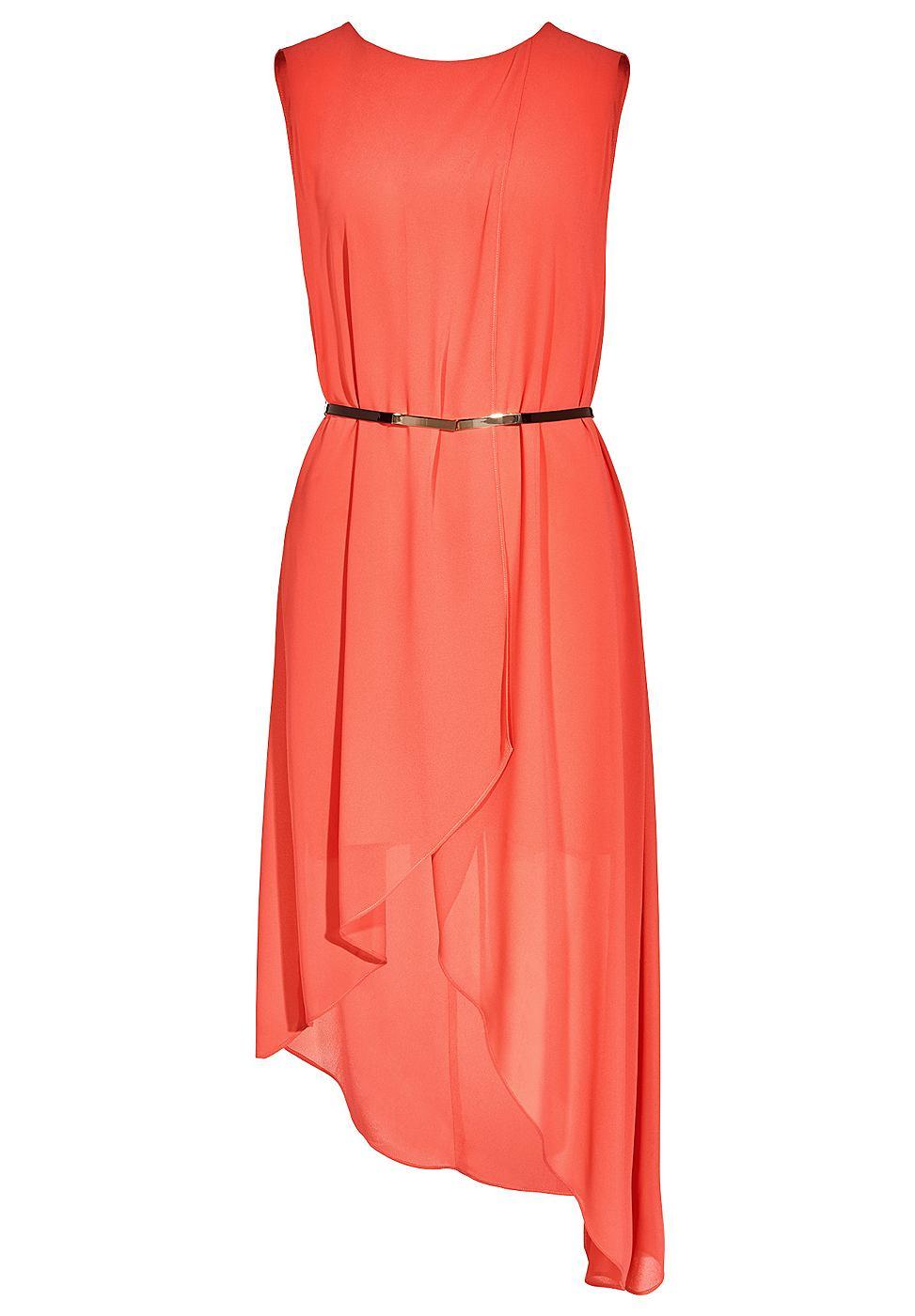 Apart chiffon jurk rood
