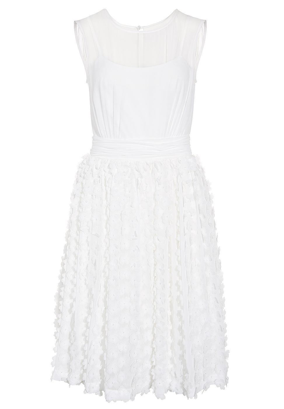 Apart chiffon jurk beige