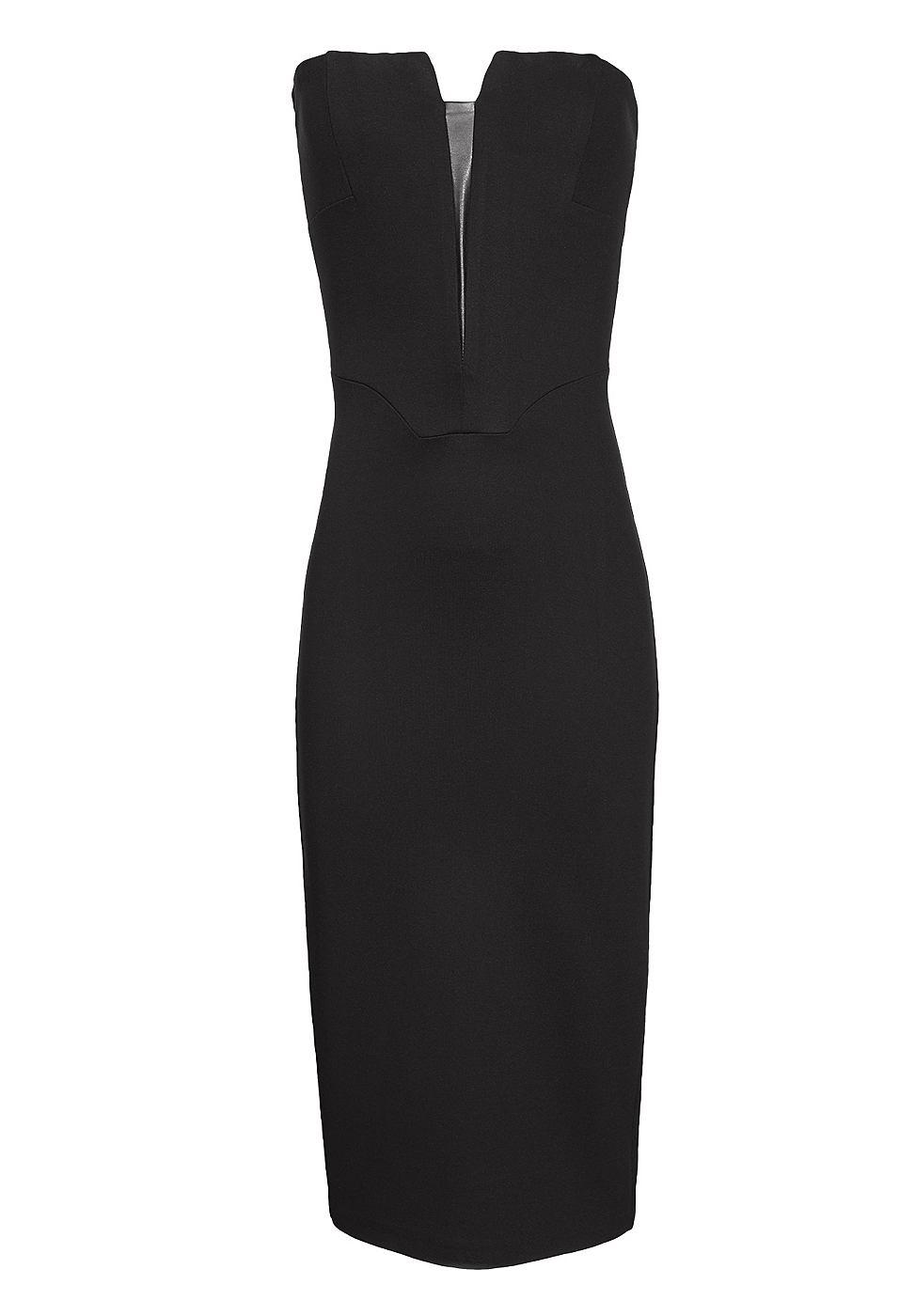 Apart Bandeau jurk zwart