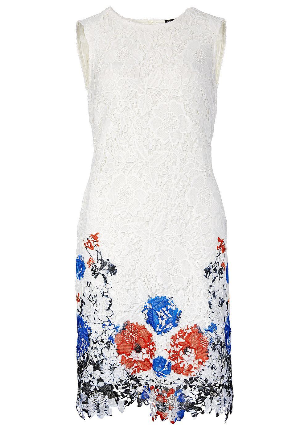 Apart kanten jurk multicolor
