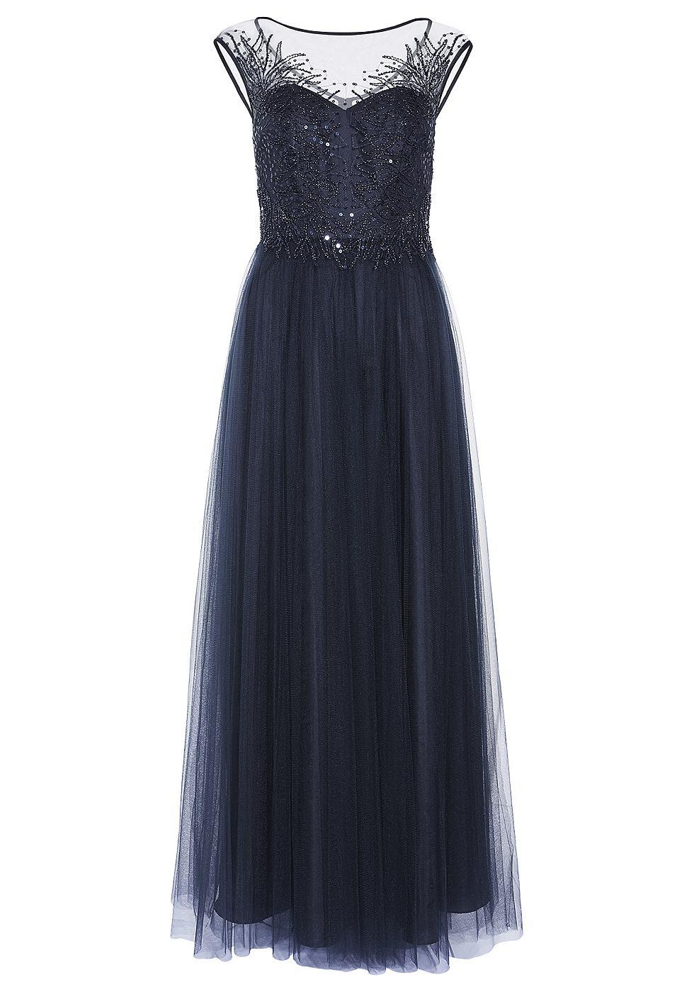 Apart Tule jurk blauw