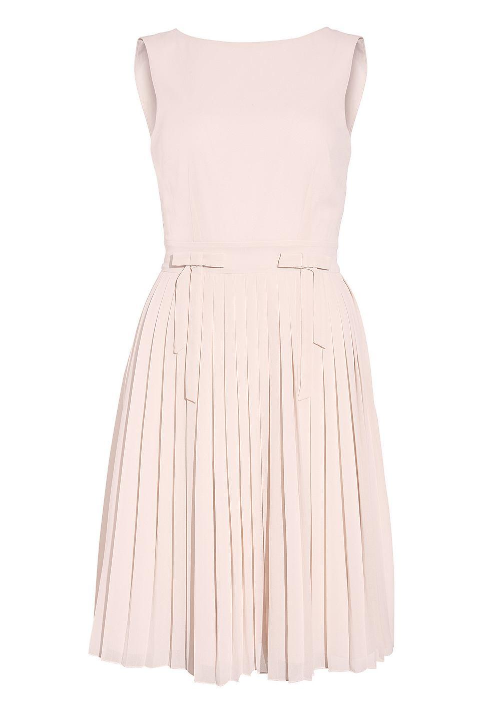 Apart Plissee jurk beige