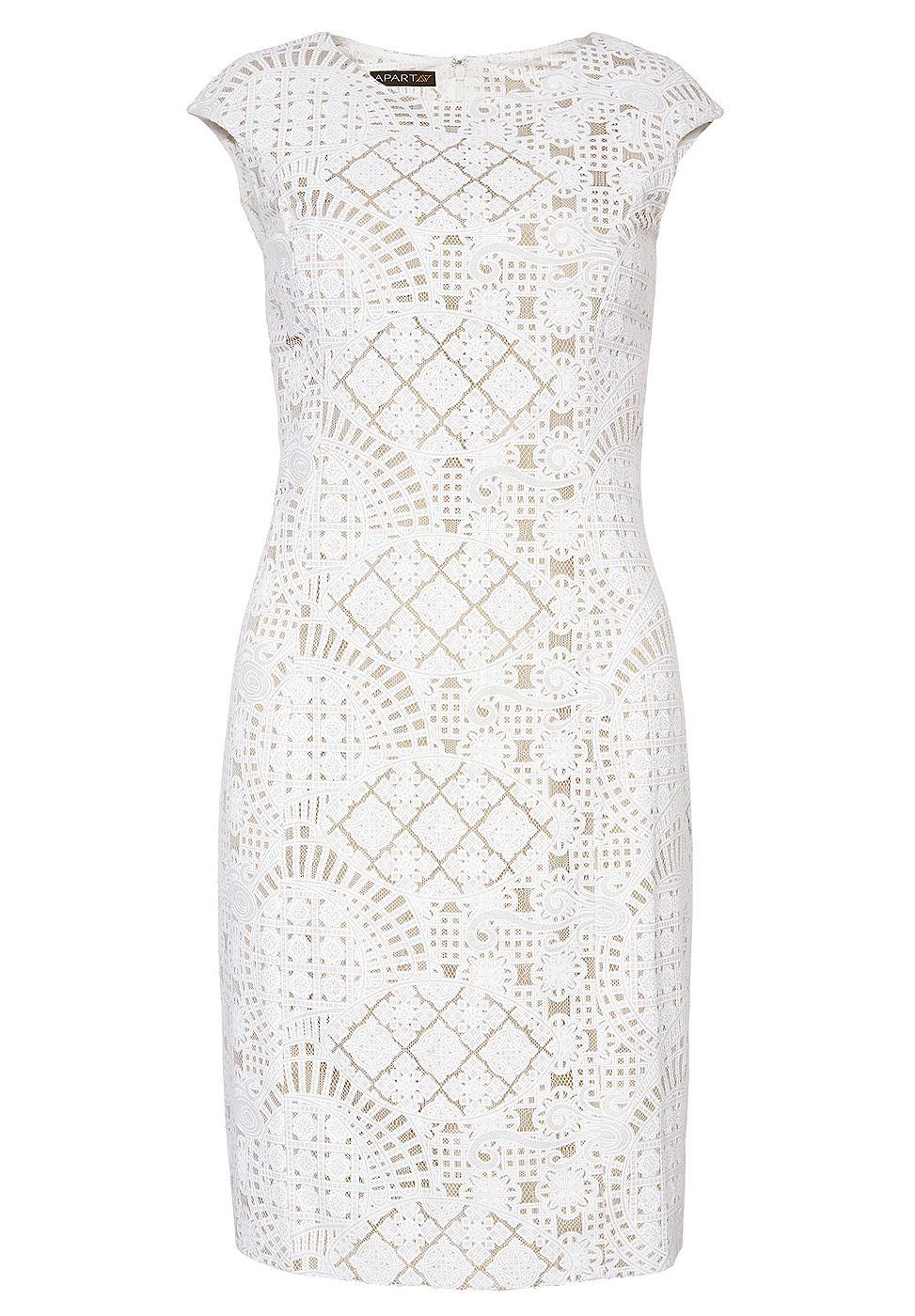 Apart kanten jurk wit