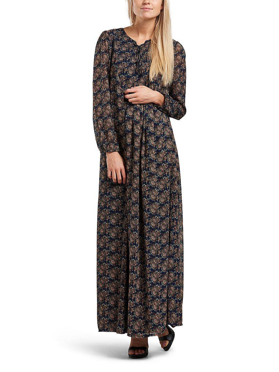 ONLY kanten jurk Met jurk met lange mouwen grijs