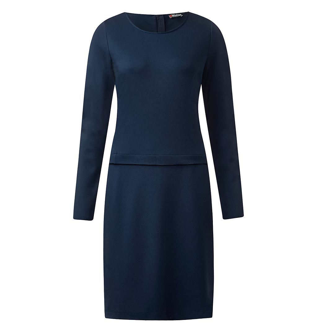 Street One jersey jurk Banu blauw
