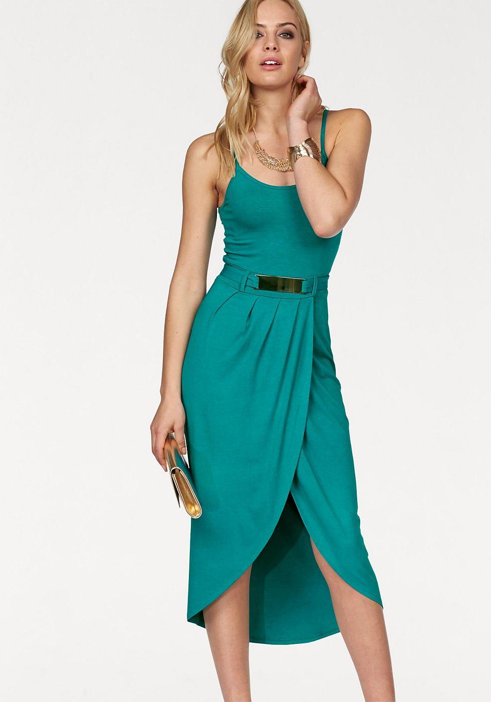 Melrose jurk achter iets langer groen