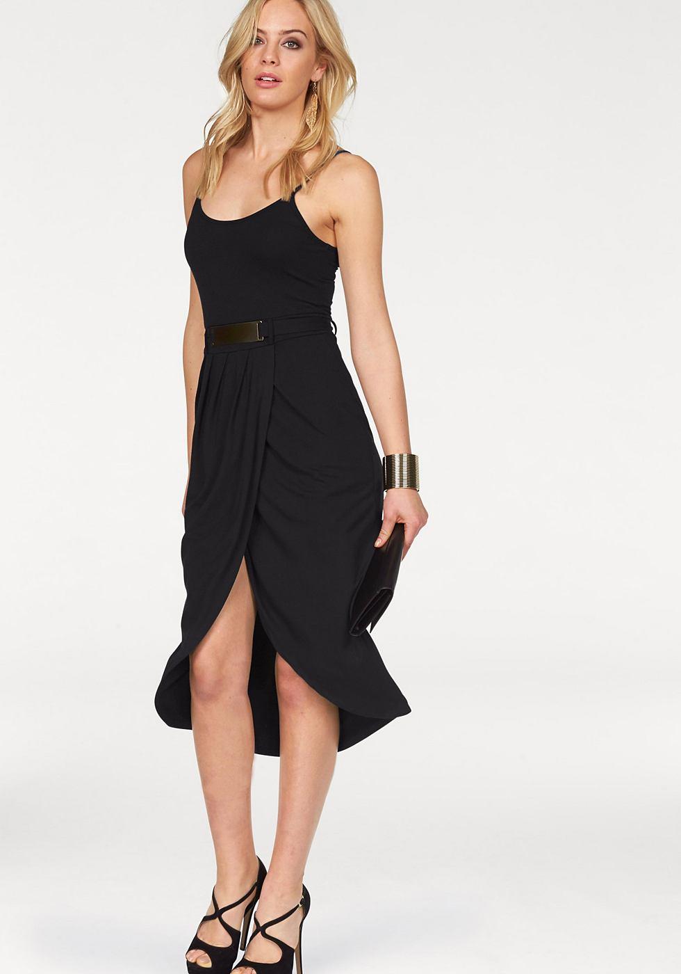 Melrose jurk achter iets langer zwart