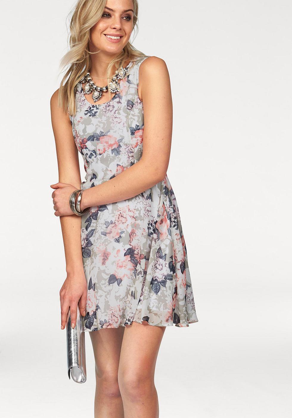 Melrose jurk in bloemdessin roze