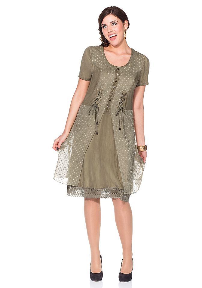 Joe Browns jurk in een mix van materialen groen