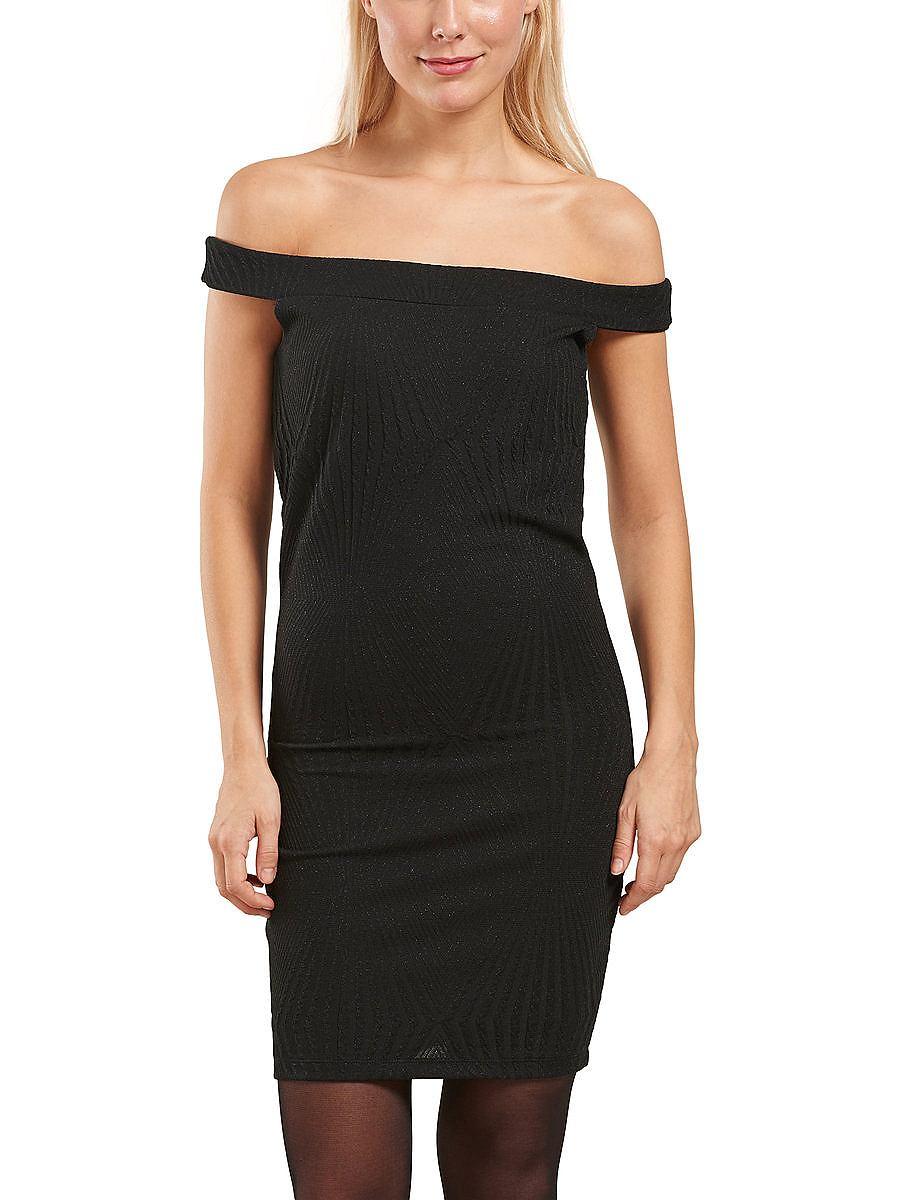 ONLY Aangelegde mouw Korte jurk zwart