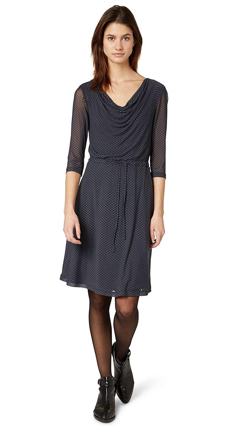 Tom Tailor jurk »Elegant Mesh Dress« blauw