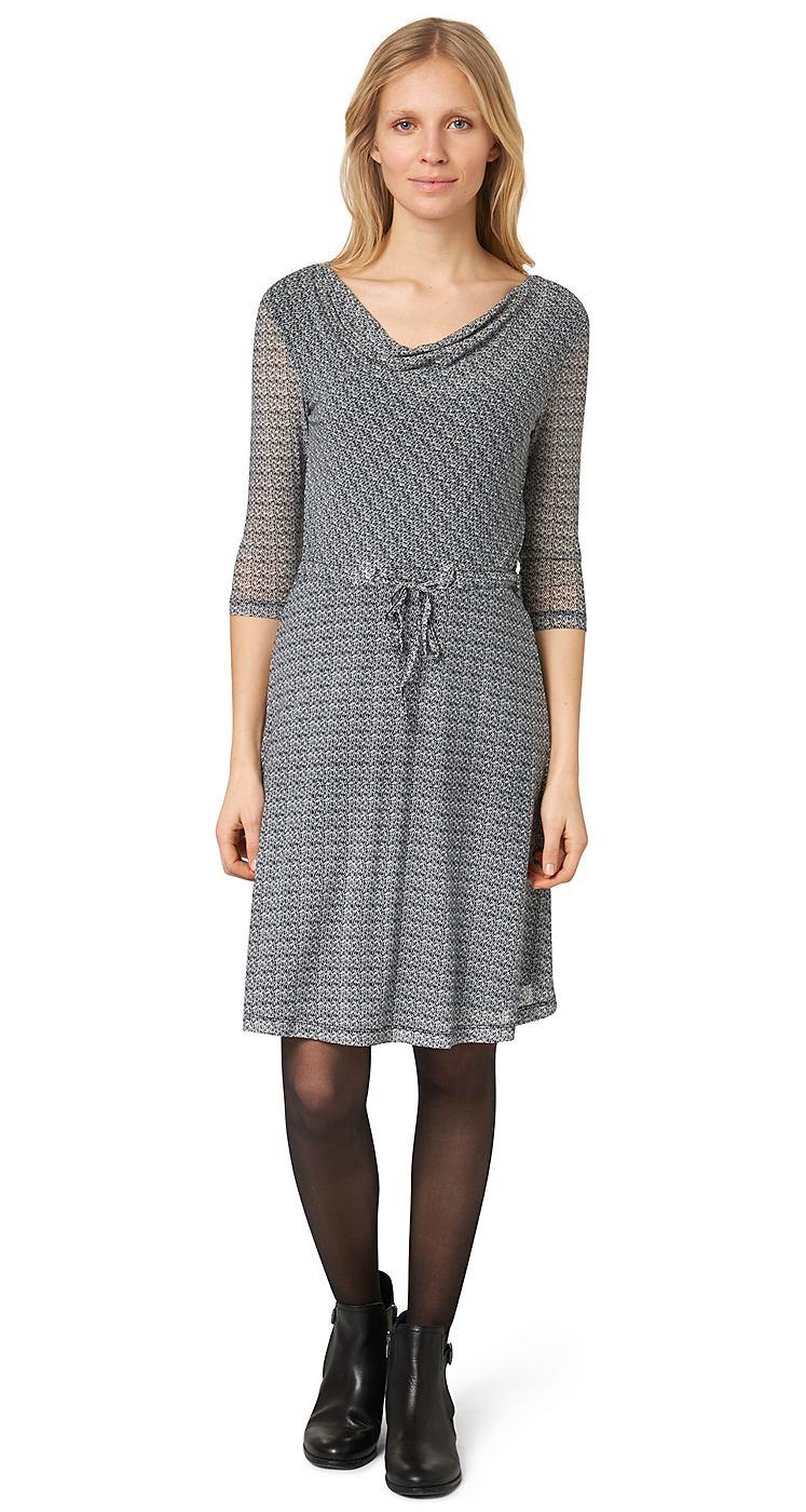 Tom Tailor jurk »elegant mesh dress« wit