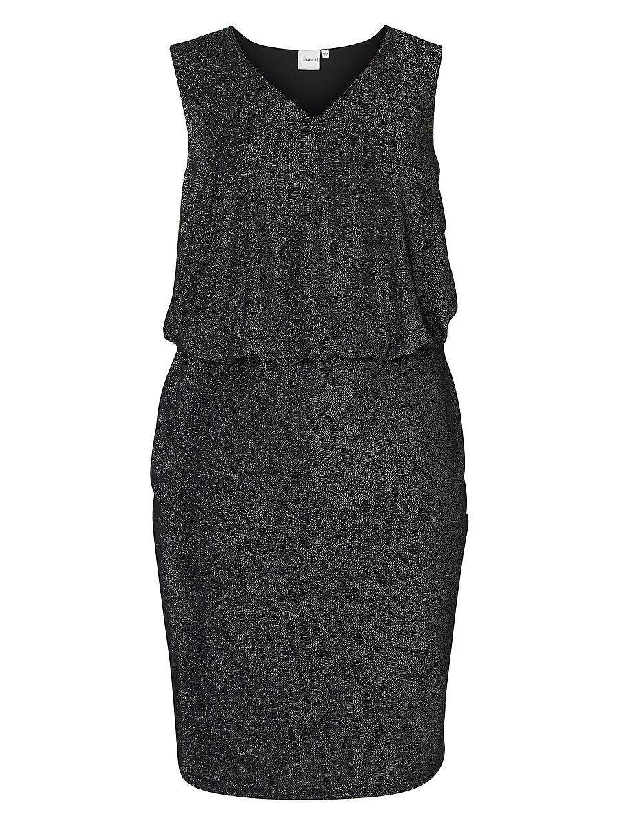 Junarose Mouwloos jurk zwart