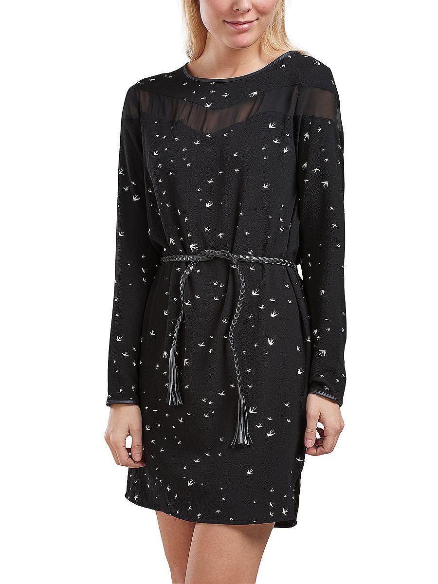 ONLY Gedetailleerd jurk met lange mouwen zwart