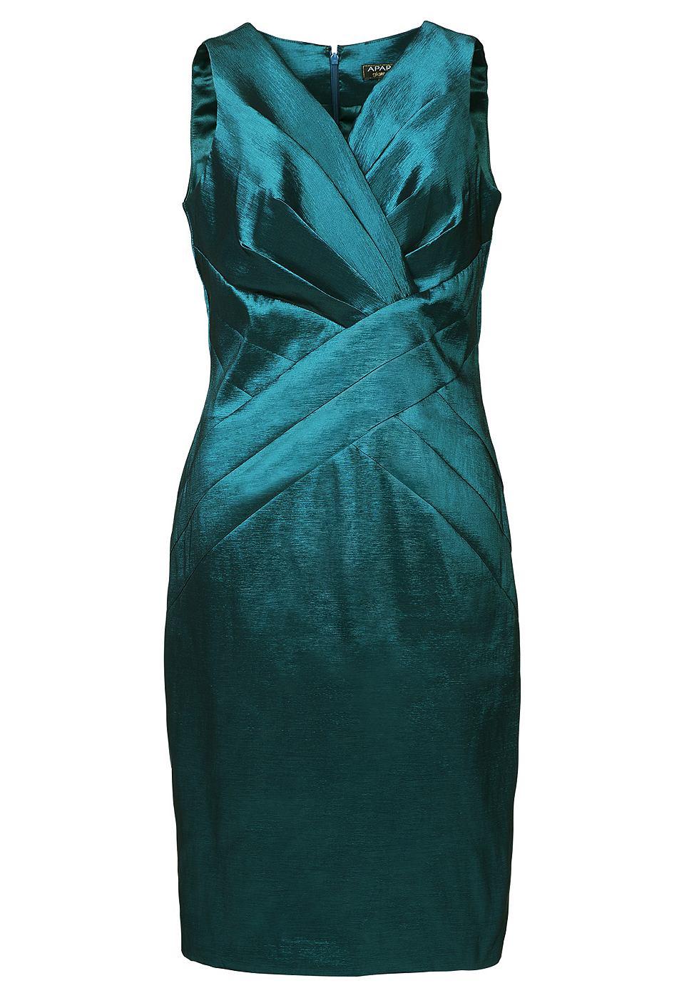 Apart Taft jurk groen