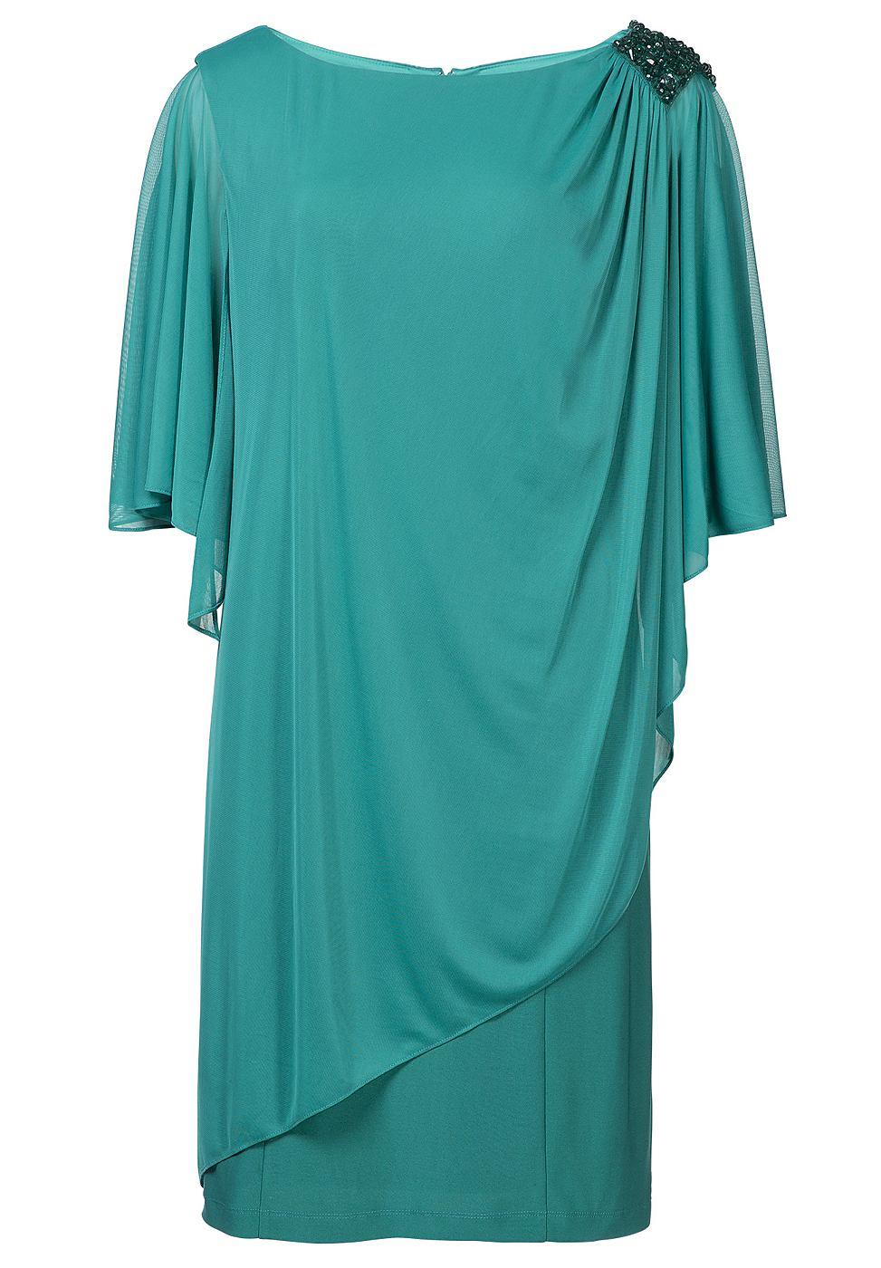 Apart jersey jurk groen