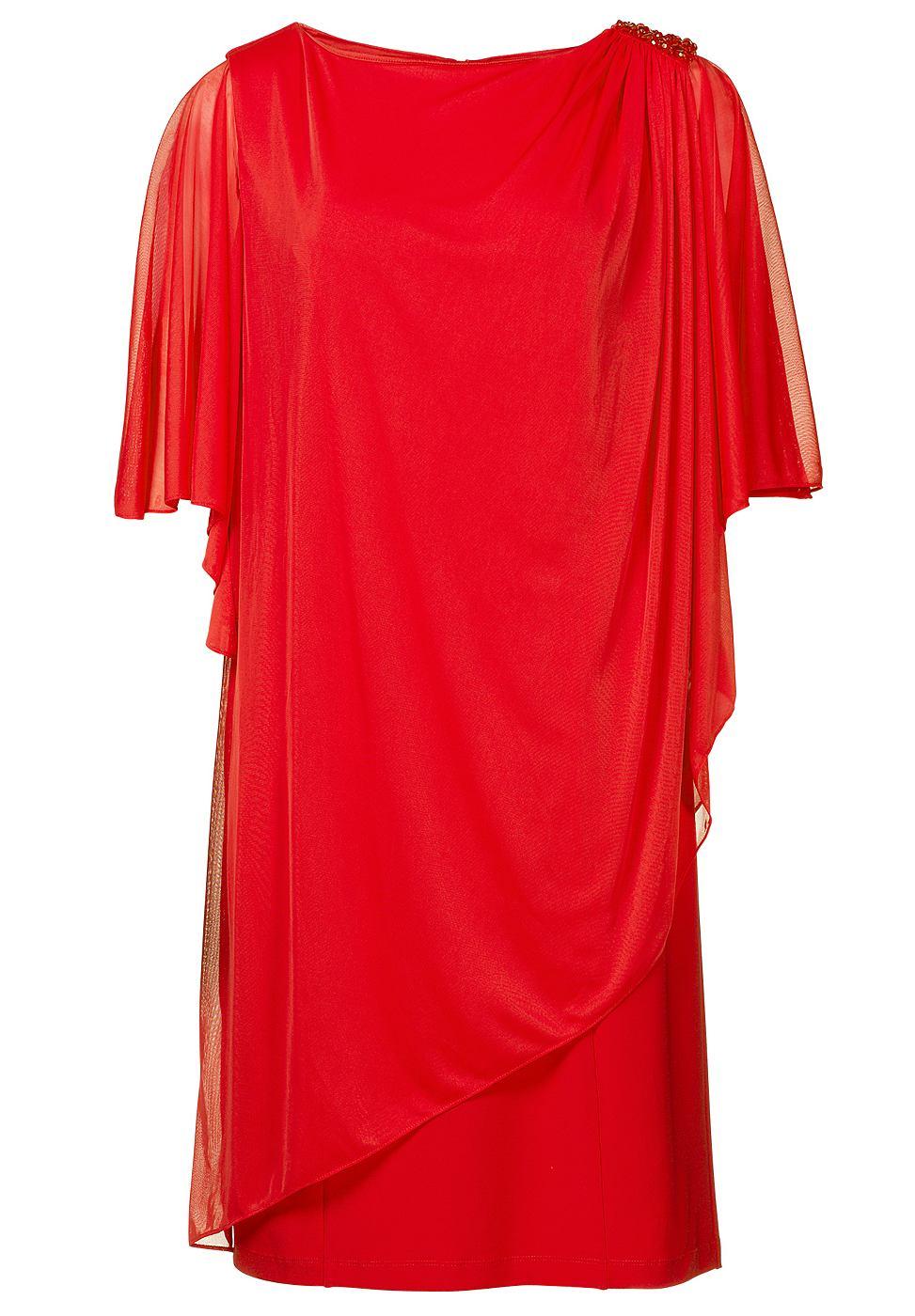 Apart jersey jurk oranje