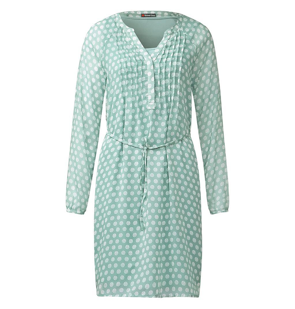 Street One chiffon jurk Ivy groen