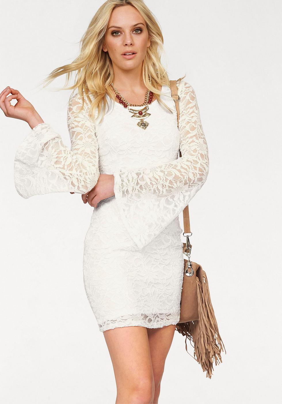 Melrose kanten jurk wit