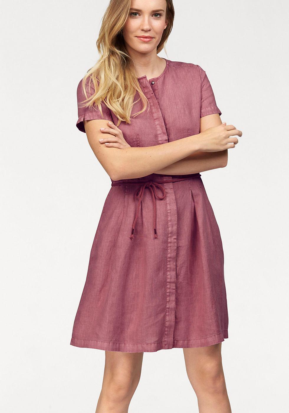 Marc O'Polo geweven jurk roze