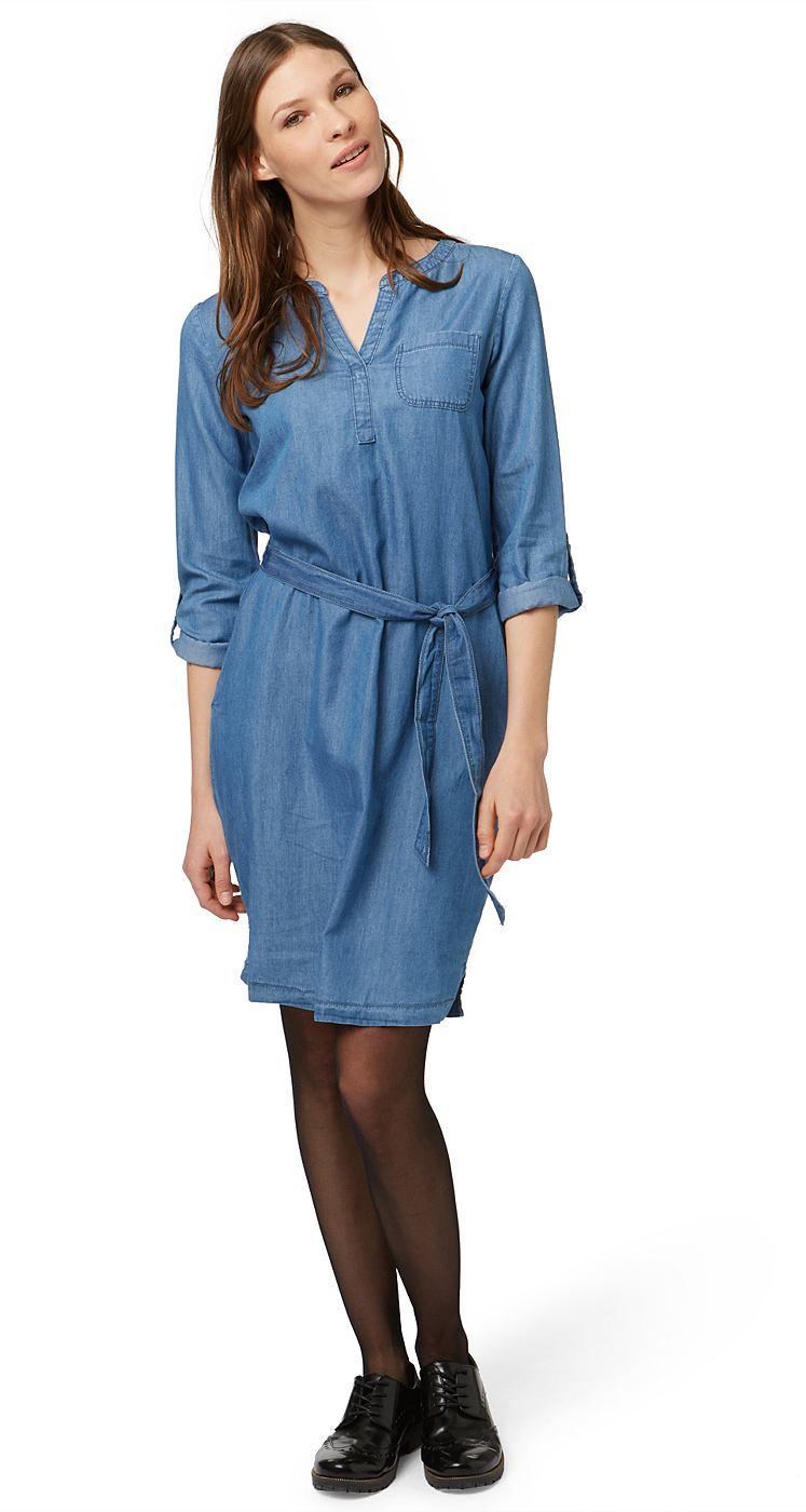 Tom Tailor jurk »Tencel Casual Dress« blauw