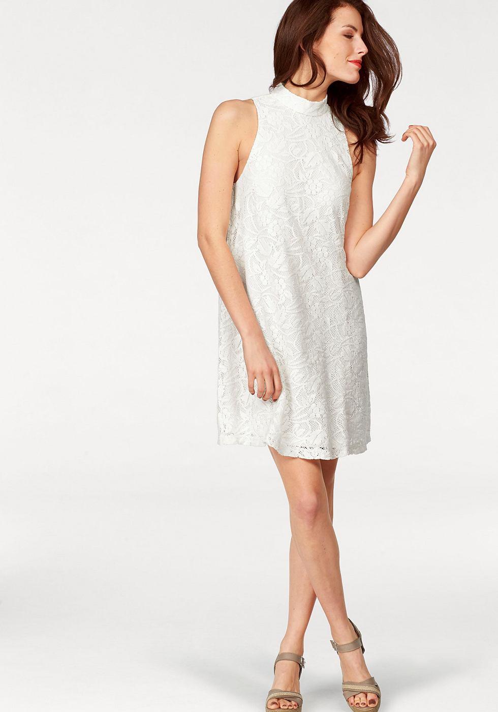 Vivance Collection jurk in A-lijn beige