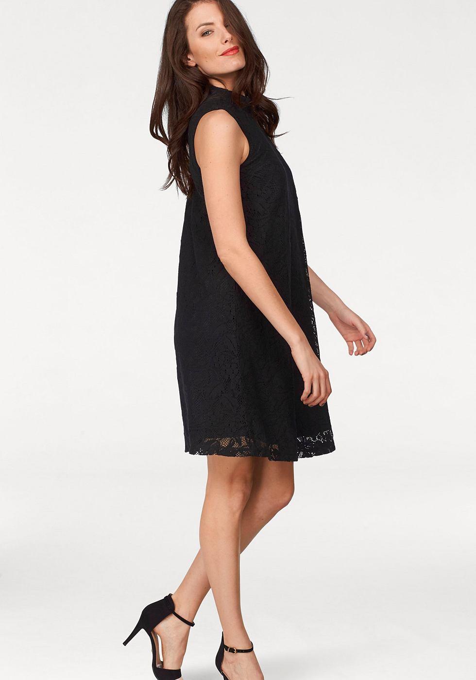 Vivance Collection jurk in A-lijn zwart