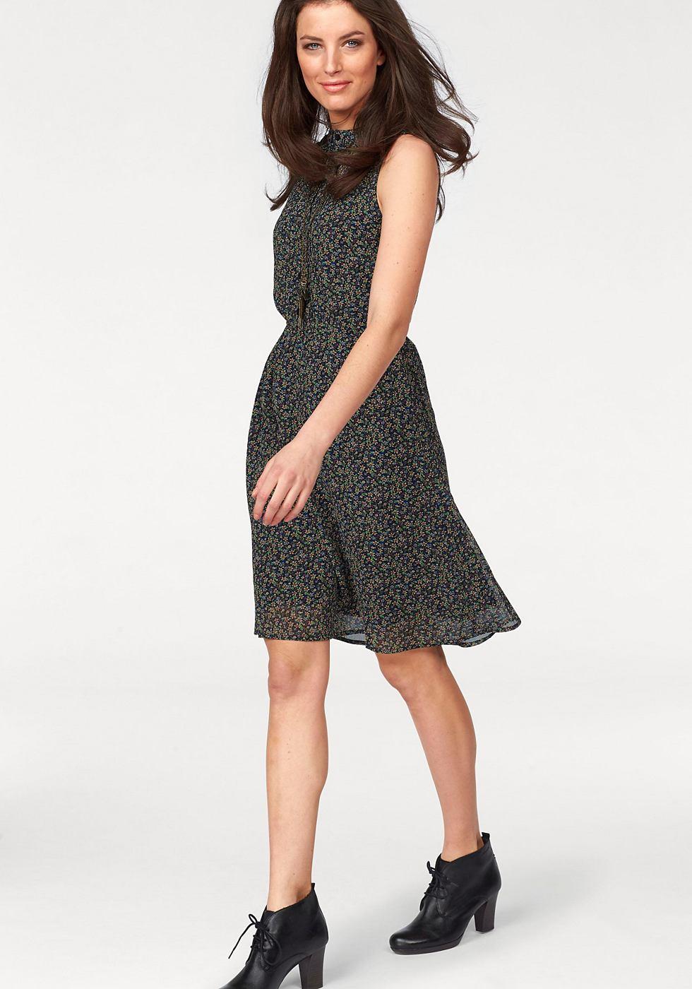 Aniston gedessineerde jurk zwart
