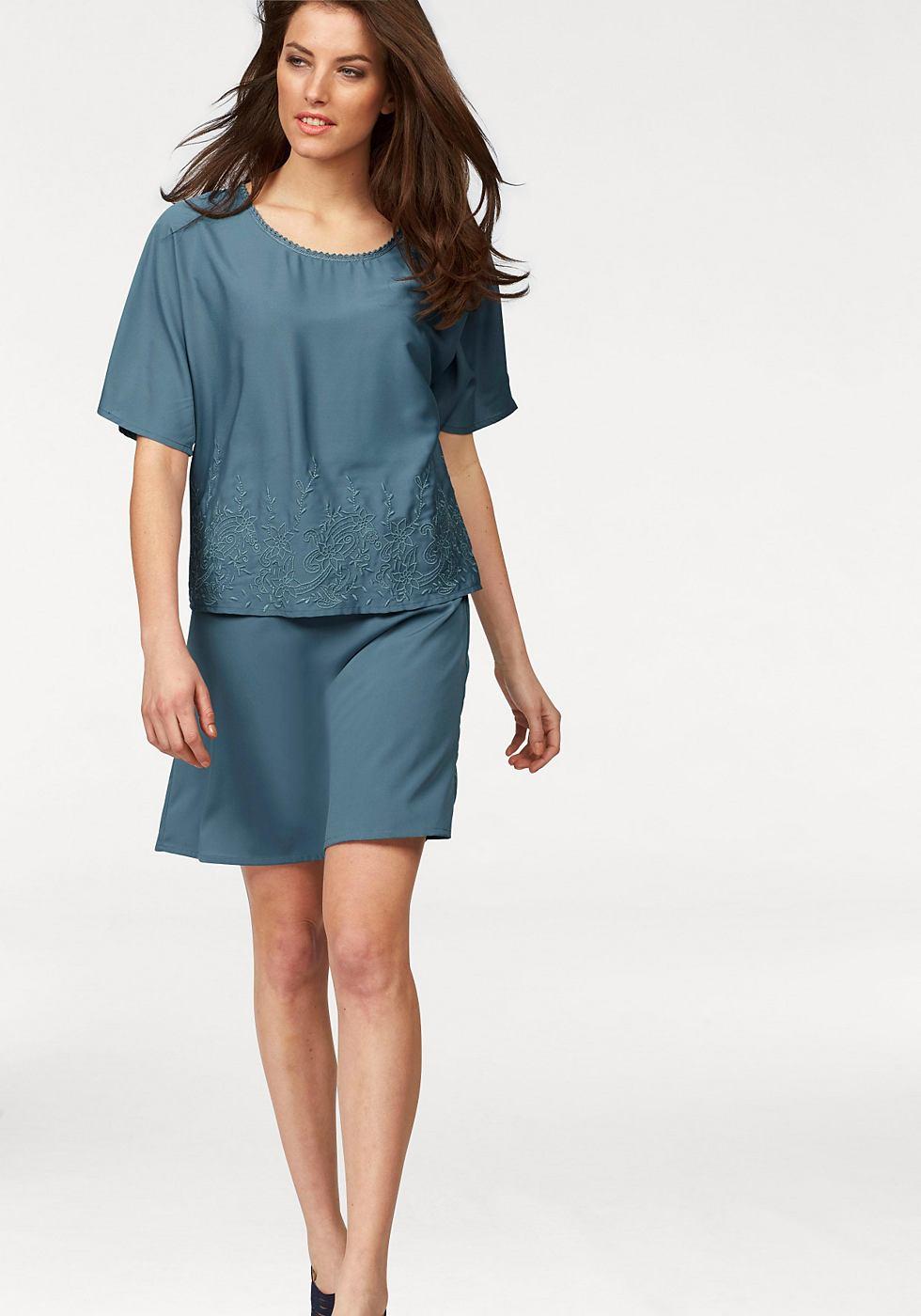 Aniston 2-in-1-jurk blauw
