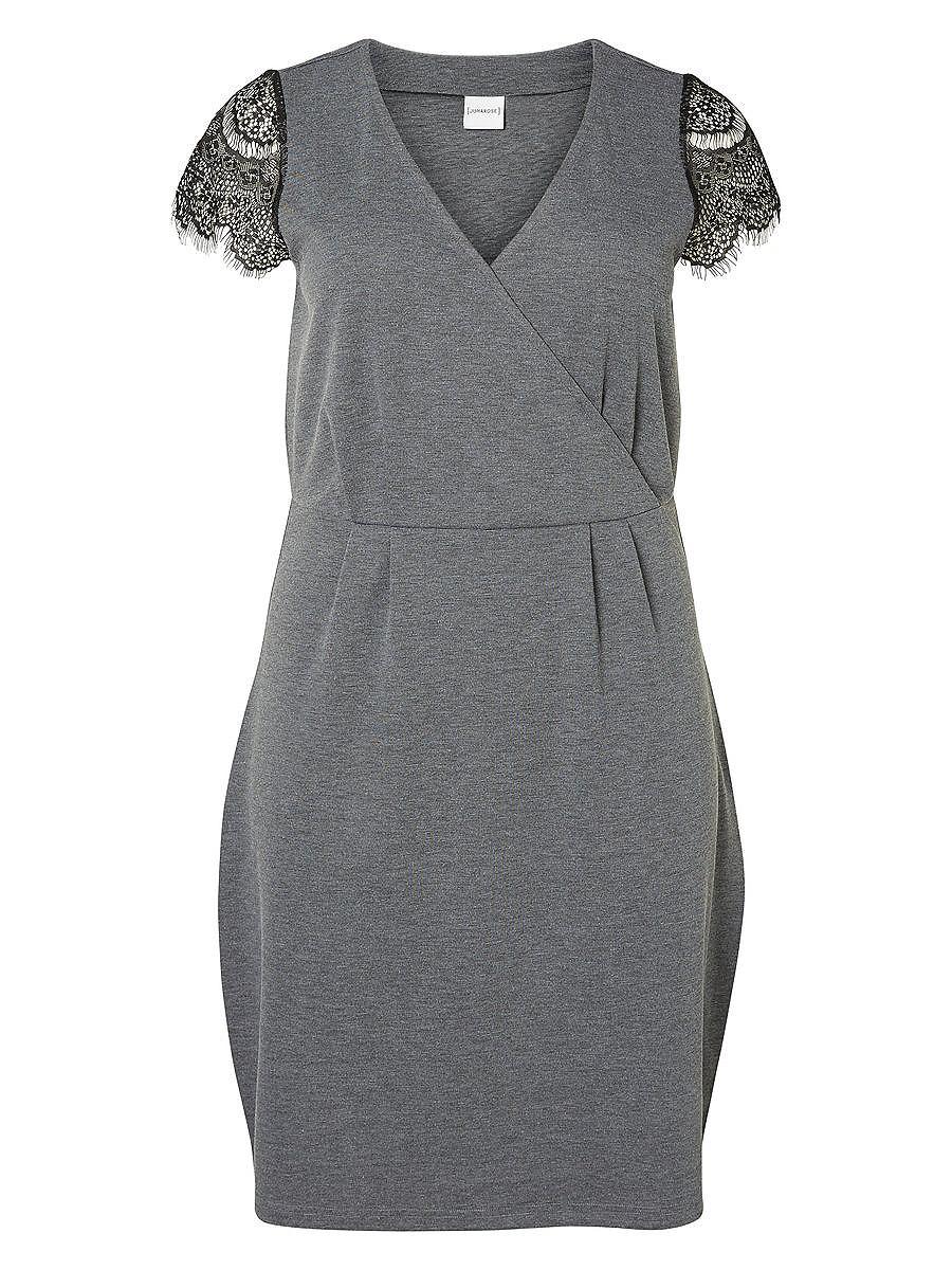 Junarose Kapmouw jurk grijs