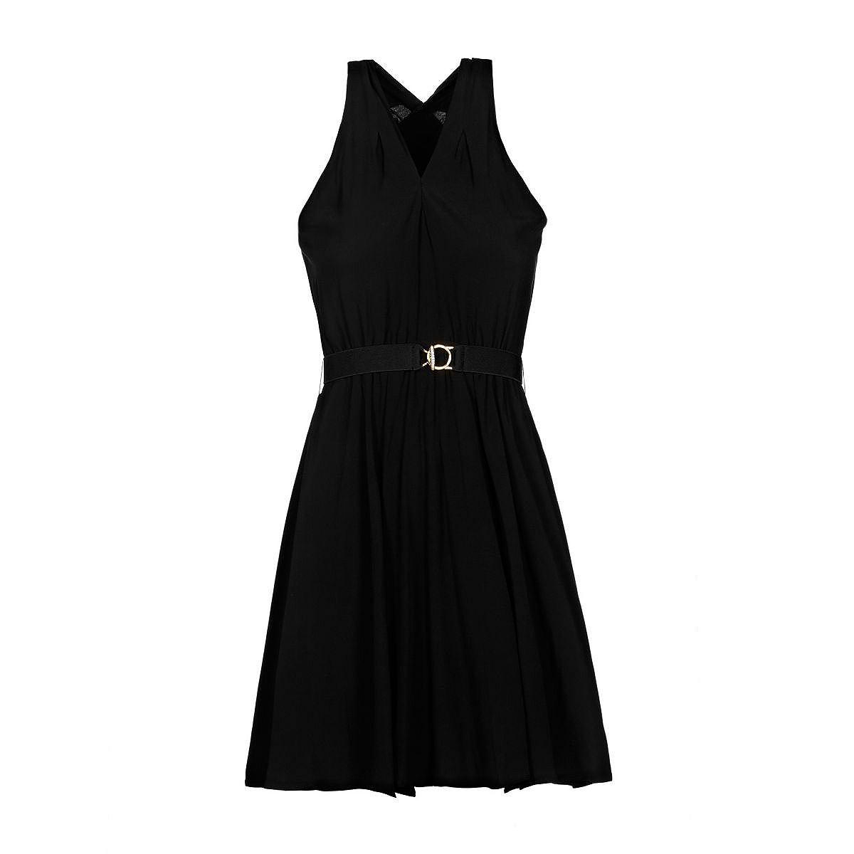 Guess jurk gestreept gekruist zwart