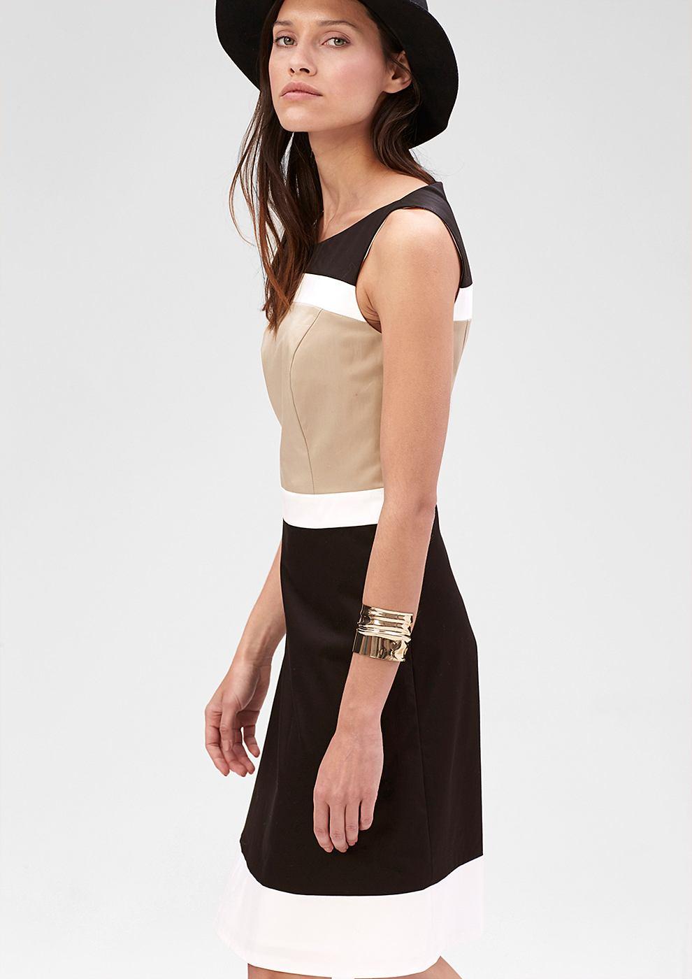 s.Oliver Premium jurk met colour block-design zwart