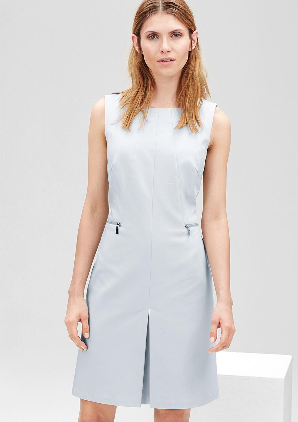 s.Oliver Premium Aansluitende jurk met een ritsdetail blauw
