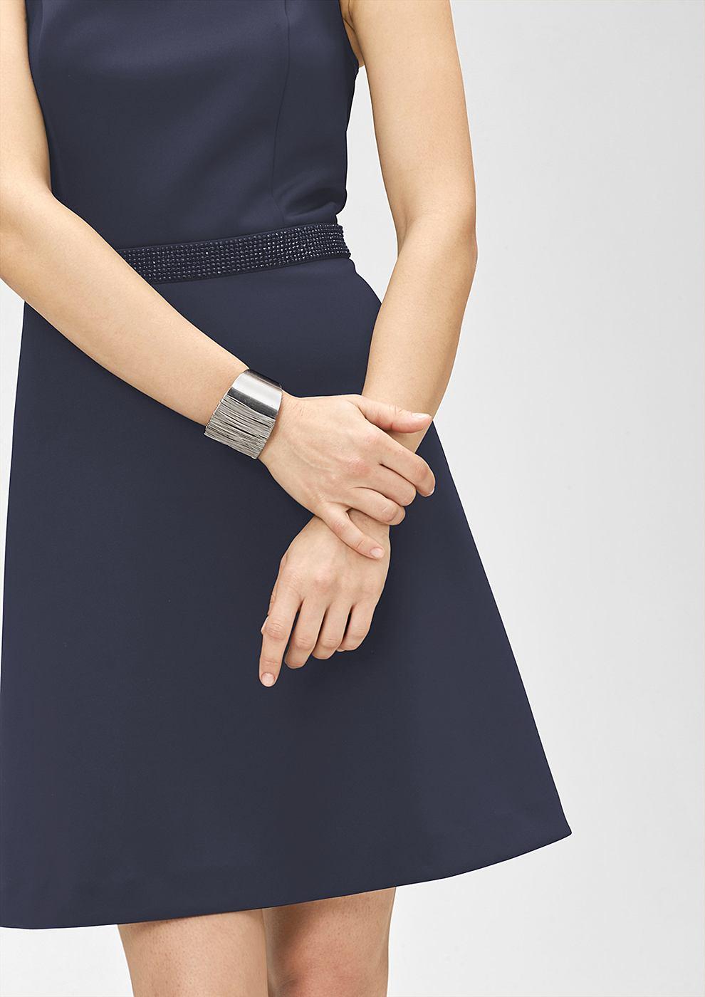 s.Oliver Premium Glamoureuze jurk met de look van neopreen blauw