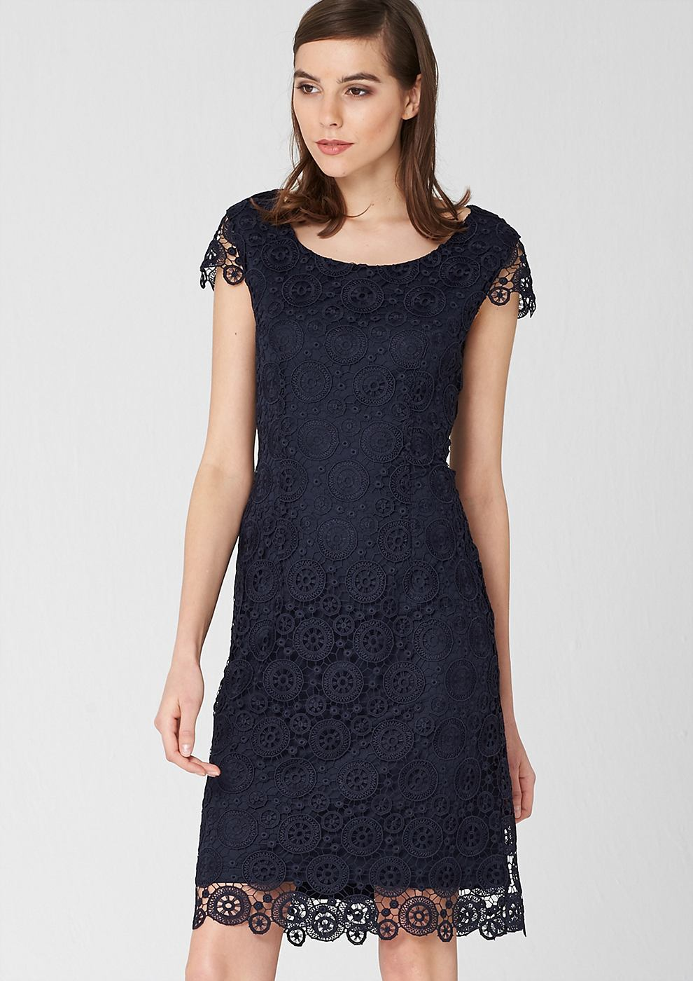 s.Oliver Premium Accentuerende jurk van kant blauw